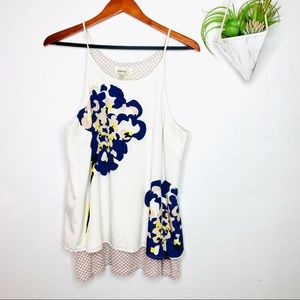 Anthropologie|  Porridge Floral Layered Swing Tank